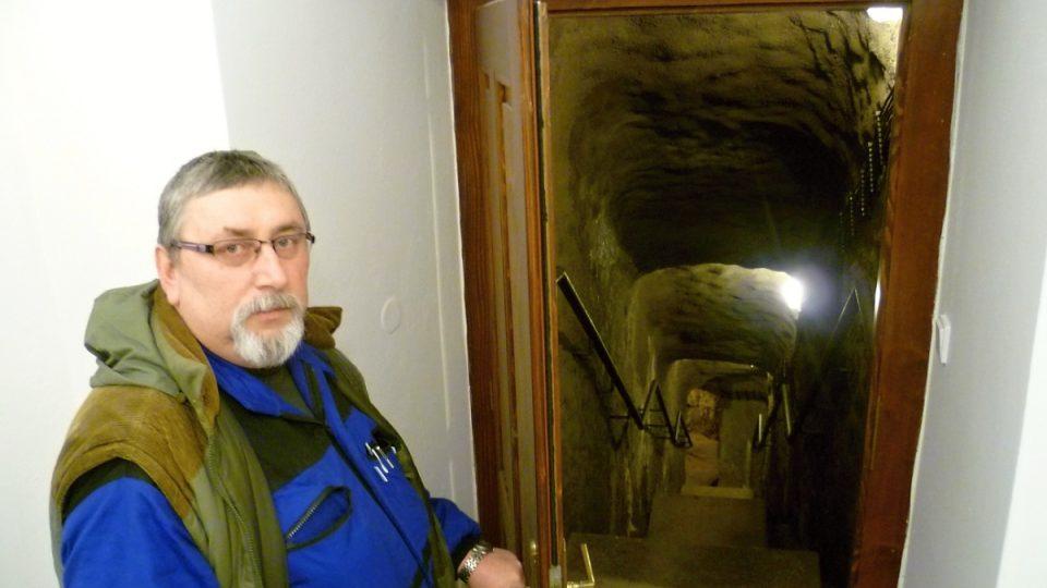 Správce jihlavského podzemí Jan Šustr