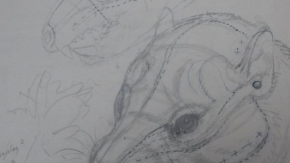Jedna z Burianových skic