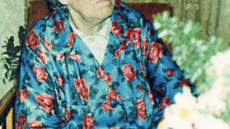 Anežka Gorlová ve stáří