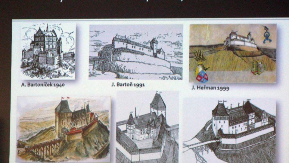 PhDr. Jan Podliska, Ph.D., přítomným přiblížil situaci Nového hradu u Kunratic ve světle posledních let