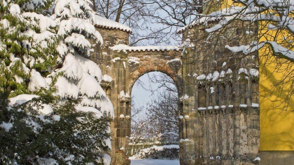 Panenský Týnec v zimě