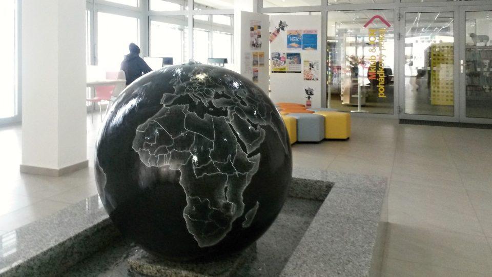 Vstupní prostor knihovny