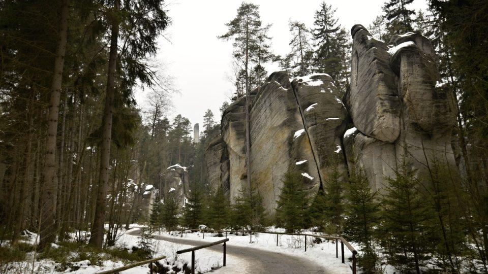 Adršpašské skály v zimě