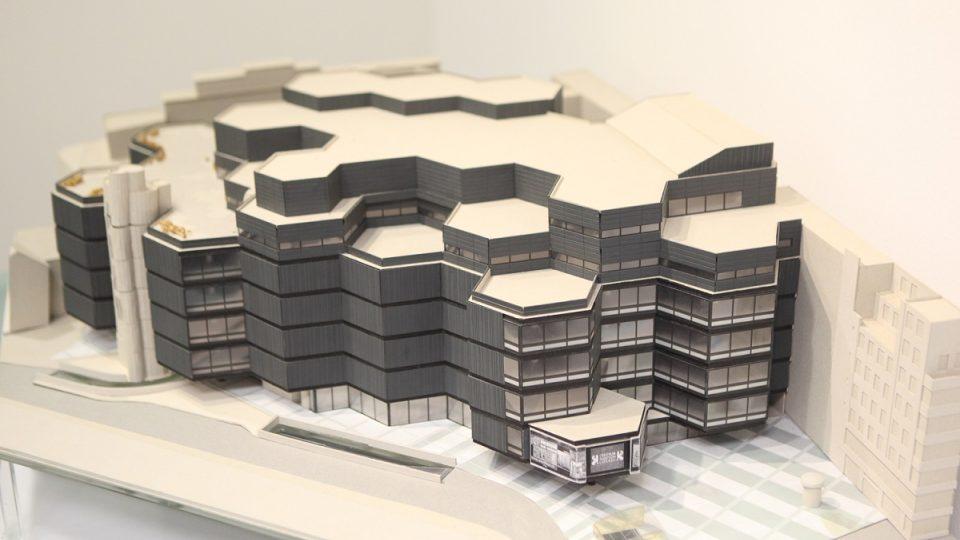 Model obchodního domu Kotva