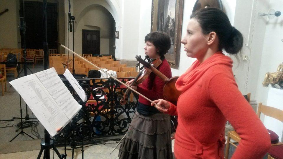Nahrávání v kapli Panny Marie přímo v budově slánského muzea