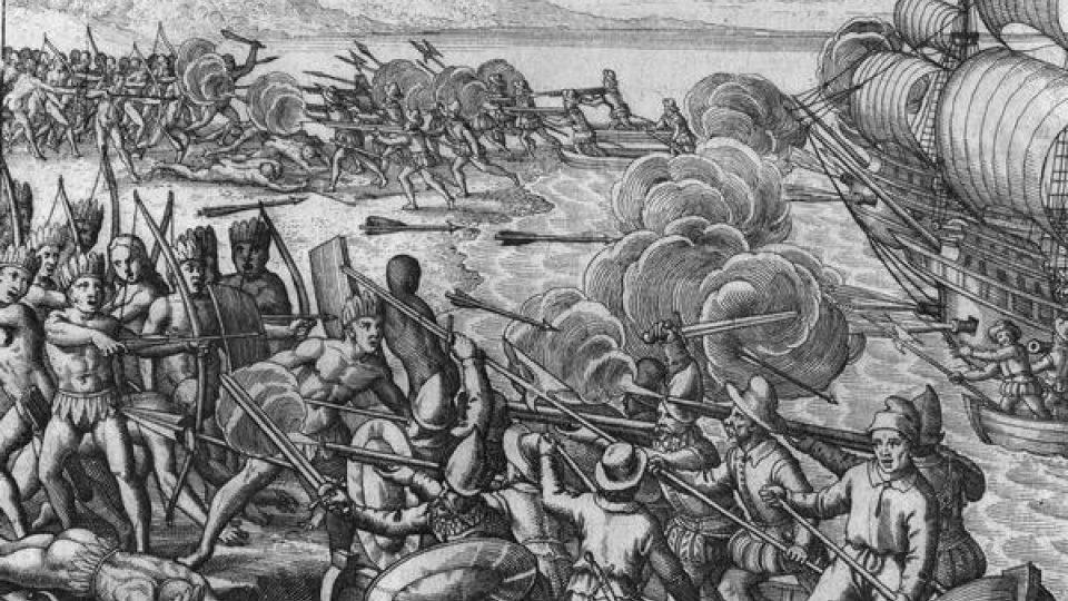 Aelgorie na téma Vespucci útočí na Nové země
