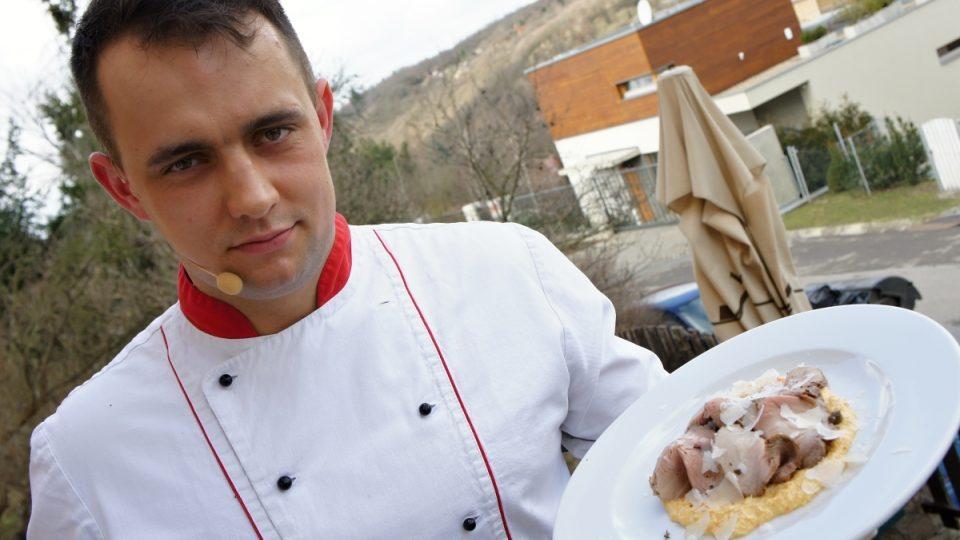Jan Zmeškal a carpaccio z vepřové krkovice s křenovou majonézou