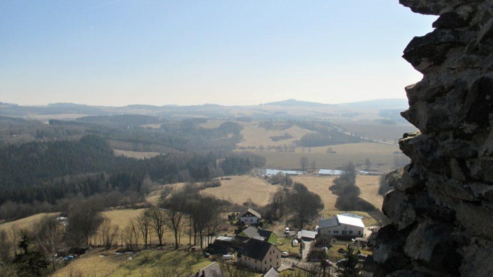 Z hradu je úžasný výhled