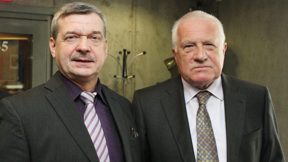 Miroslav Dittrich a Václav Klaus