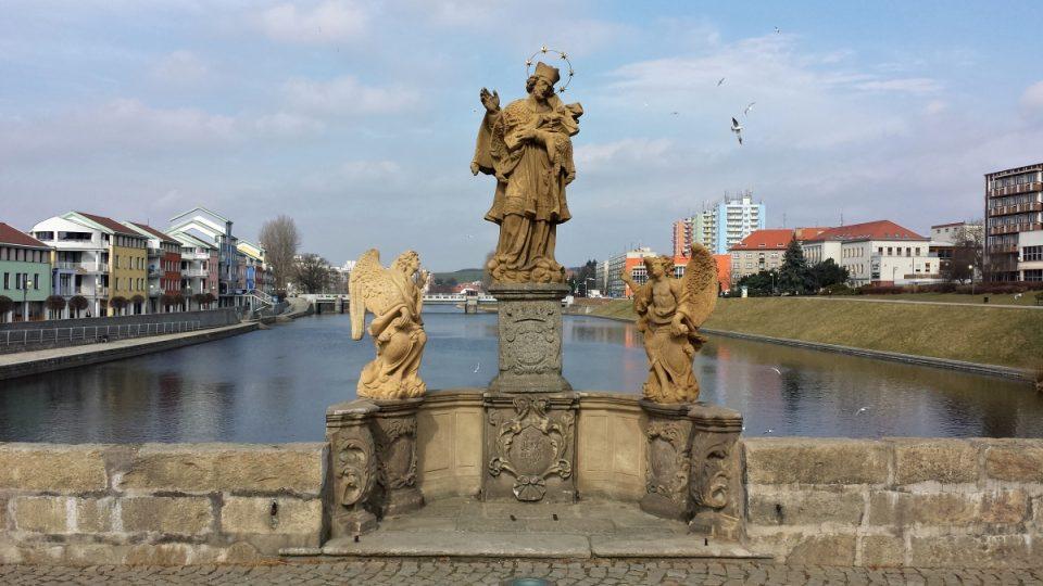 Písecký most - Svatý Jan Nepomucký na mostě