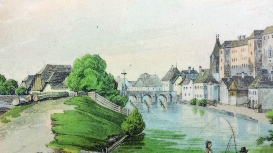 Písecký most - začátek 19. století
