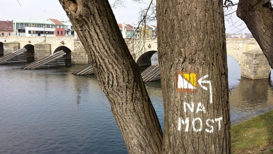 Písecký most - značka