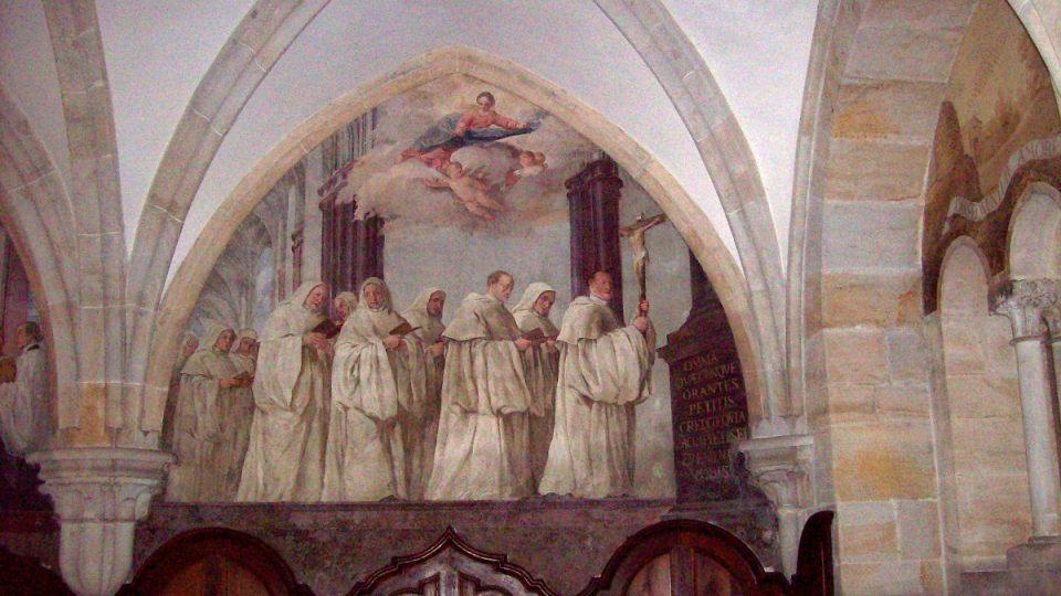 Kapitulní síň - malba na zdi