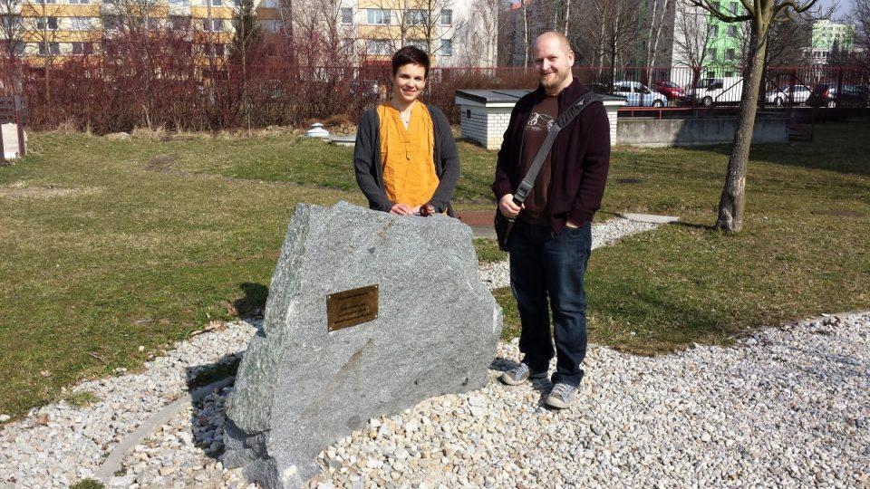 Pomník vznikl díky úsilí Pavly Staňkové a Zdena Gardiana