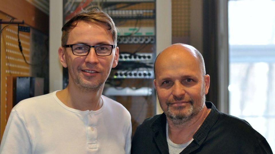 Moderátor Petr Zajíček a šéfkuchař Zdeněk Pohlreich