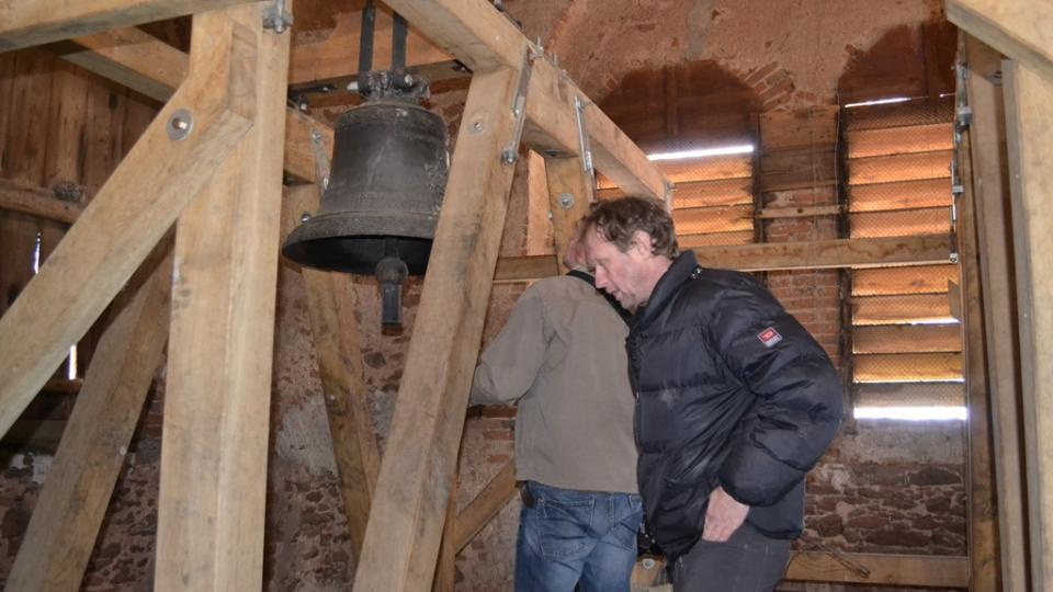 Český rozhlas natáčel zvuk zvonu v Dírné na Táborsku.