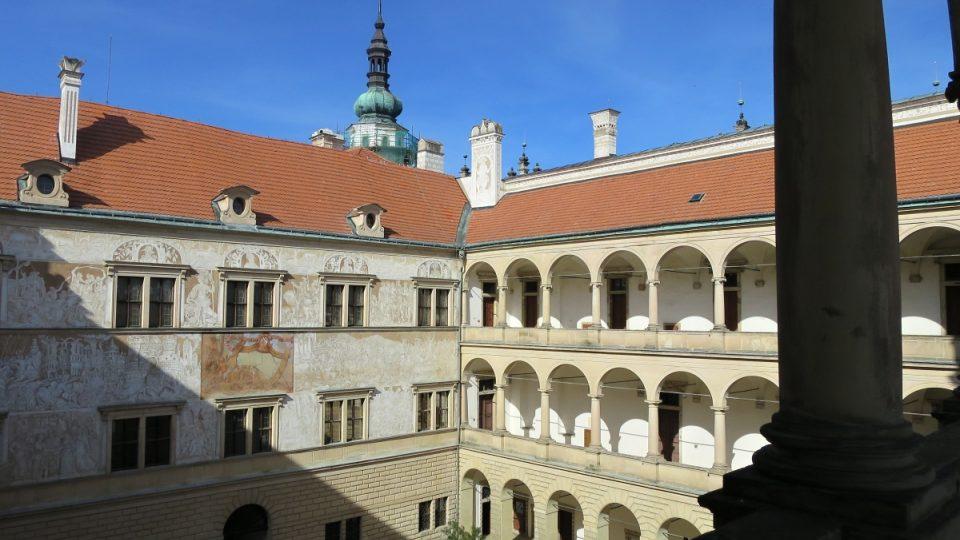 Druhé nádvoří zámku v Litomyšli