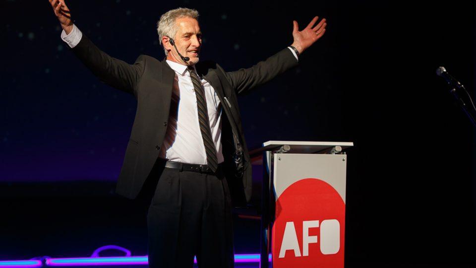 Tomáš Hanák jako moderátor Slavnostního předání cen AFO 2014