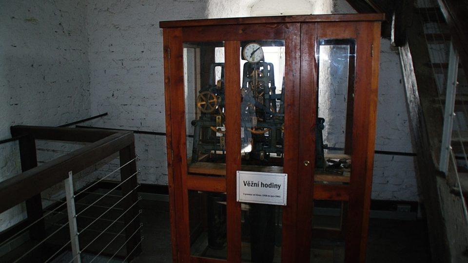 Stroj z 18. století nahradil až v padesátých letech tento hodinový stroj z Vyškova. Dnes už je také mimo provoz