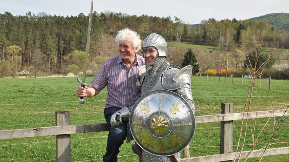 Farmář Miloš Zapletal a blanický rytíř