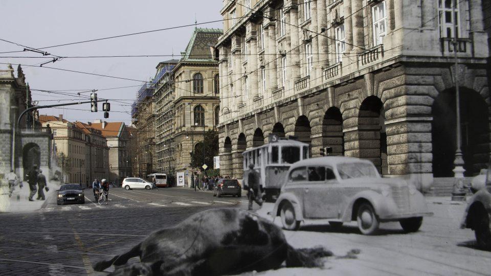 Pražané během povstání umírali na místech, která třeba denně míjíte: Křižovatka Náměstí Jana Palacha a Kaprova ulice, Praha 1