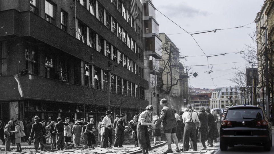 Pražané během povstání umírali na místech, která třeba denně míjíte: Vinohradská před rozhlasem, Praha 2