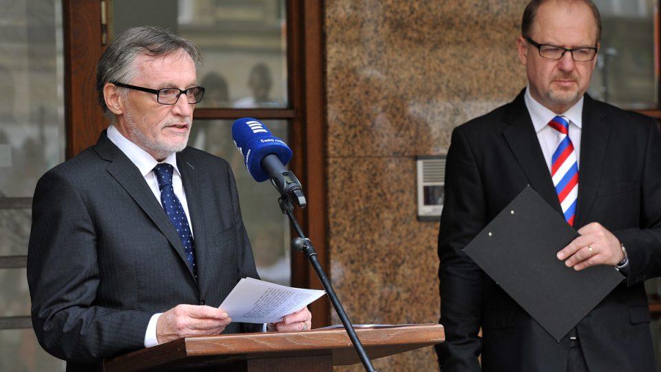 Pietní akt před budovou Českého rozhlasu, oslavy 5. květen, Peter Duhan