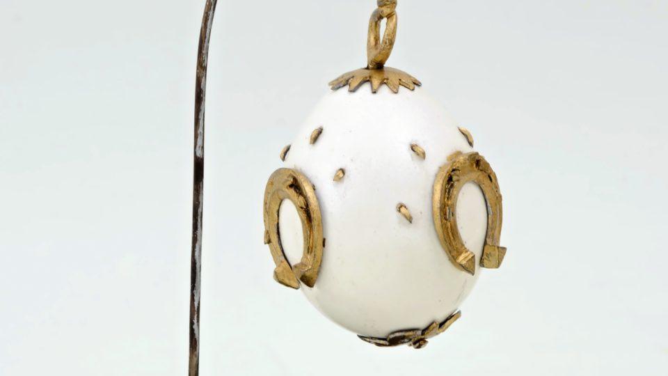 Raritní kraslice kovaná, zhotovil kovář z Chocenické Lhoty