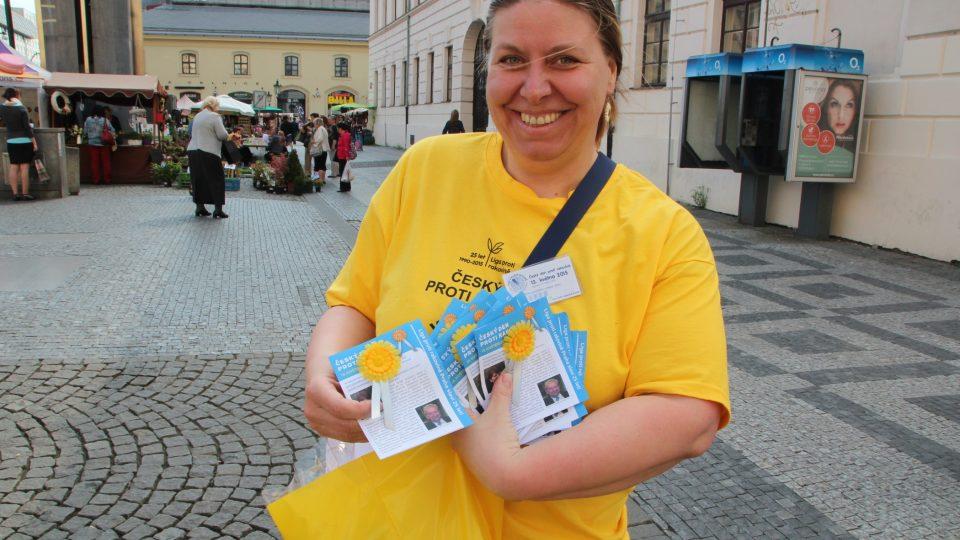 Liga proti rakovině - náměstí Republiky v Praze