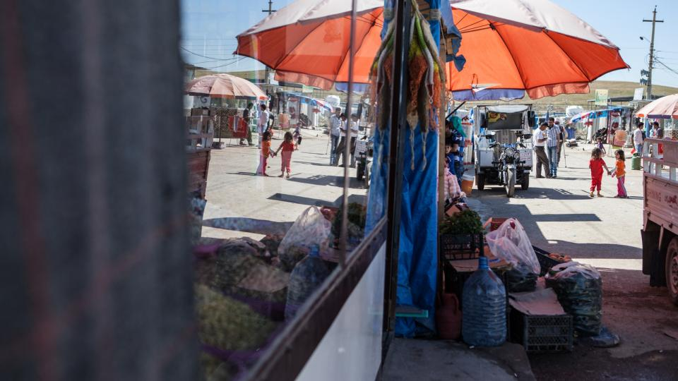 Dodávky potravin do uprchlického tábora zajišťuje World Food Program