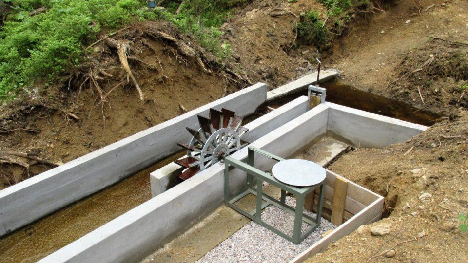 Funkční replika vodního náhonu leštírny