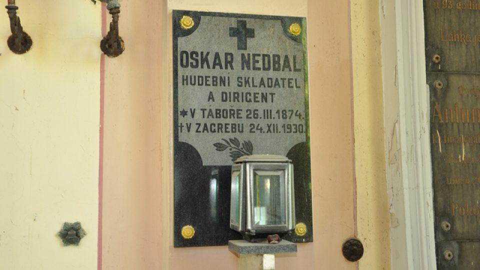 Hřbitov Mirogoj - náhrobek Oskara Nedbala