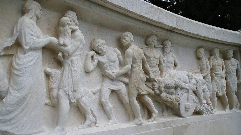 Motiv Germánů byl patrně ozvěnou vzrůstajícího nacionalismu na Jesenicku na počátku 20. století
