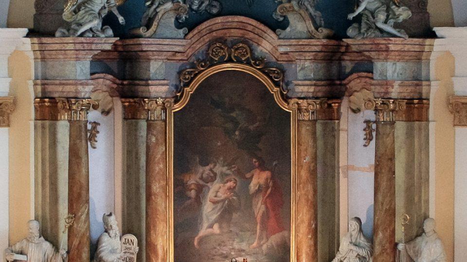 Stav oltáře před restaurátorským zásahem