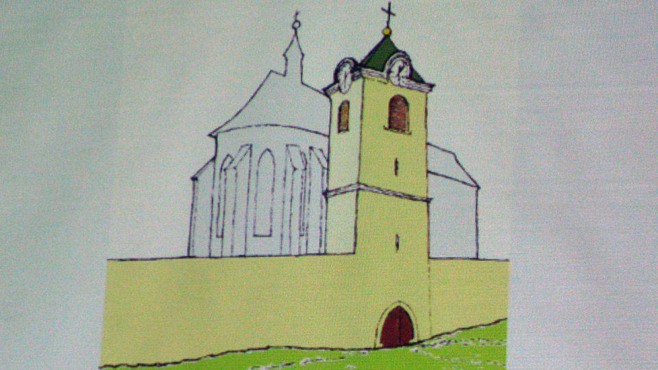 Možný vzhled věže opevněného kostela