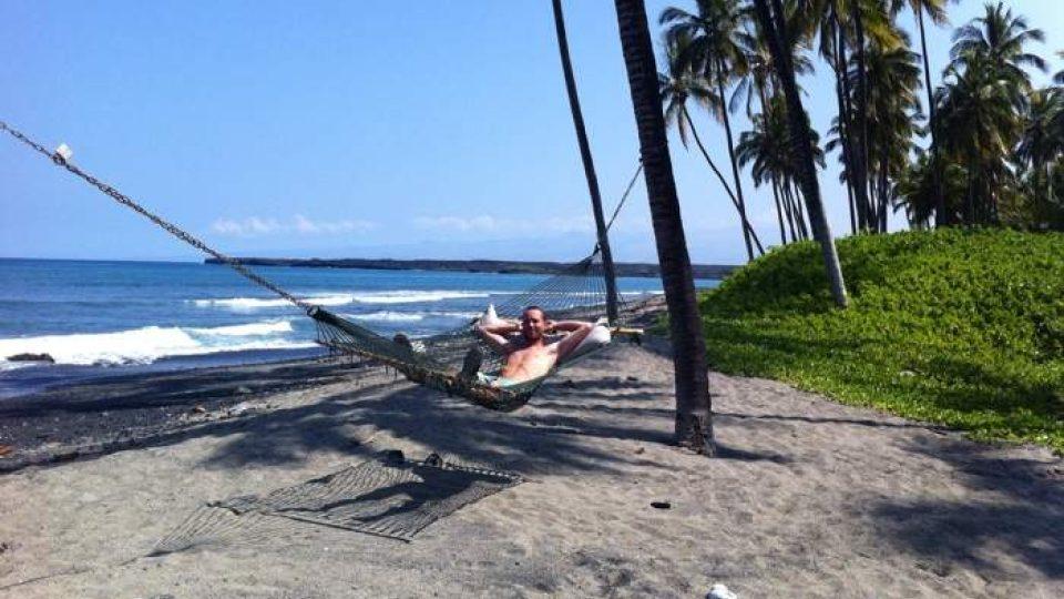 Pohoda na jedné z pláží na Havaji