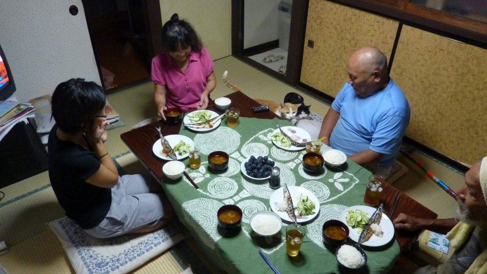 Pohoštění v japonské rodině