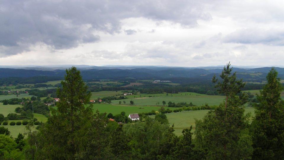 Výhled z Langovy rozhledny