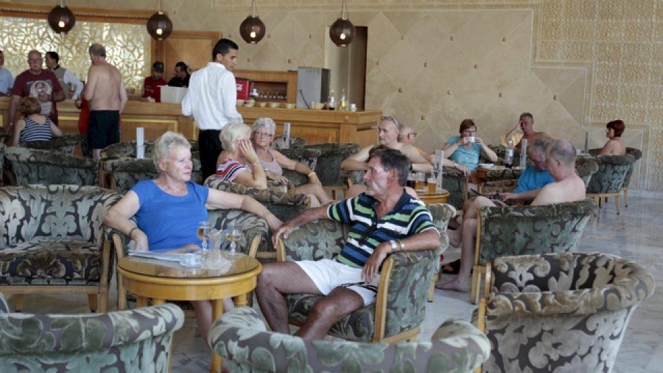 Turisté v recepci hotelu Imperial Marhaba Hotel
