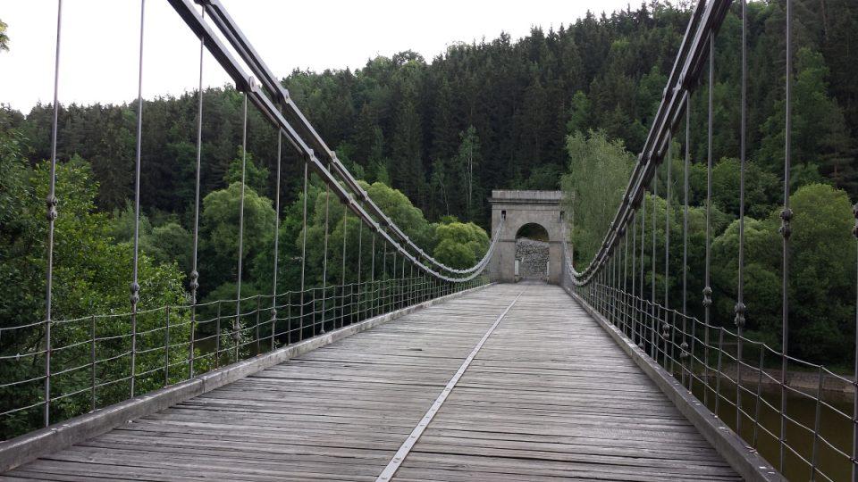 Stádlecký most - pohled z levého břehu