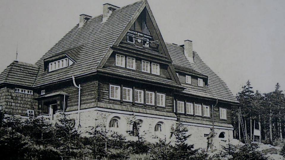 Historický snímek Kramářovy chaty