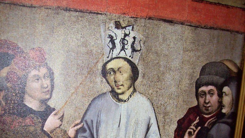 Jan Hus - obraz z kostela v Roudníkách