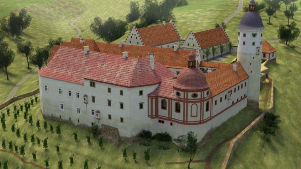 Virtuální rekonstrukce zámku Zvířetice