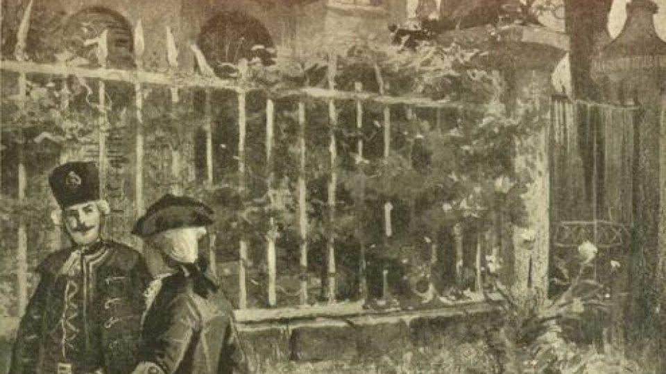 Původní ilustrace k románu Julese Verna Tajmeství Viléma Storitze