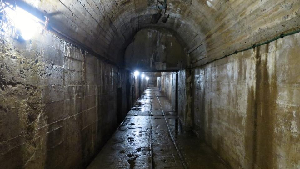 Hlavní podzemní chodba, tzv. galerie