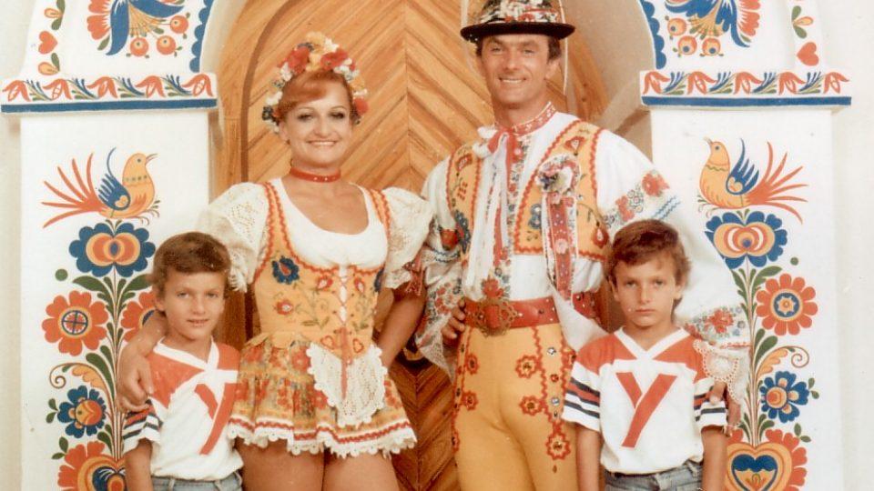 Rodina Bubeníčků 1980