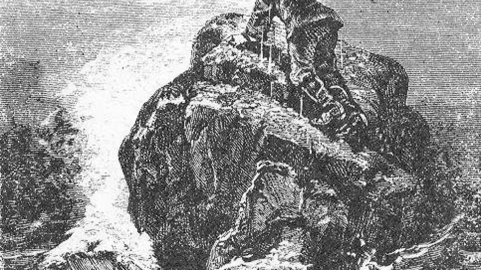 Původní ilustrace k románu Julese Vernea Škola robinsonů (1881)