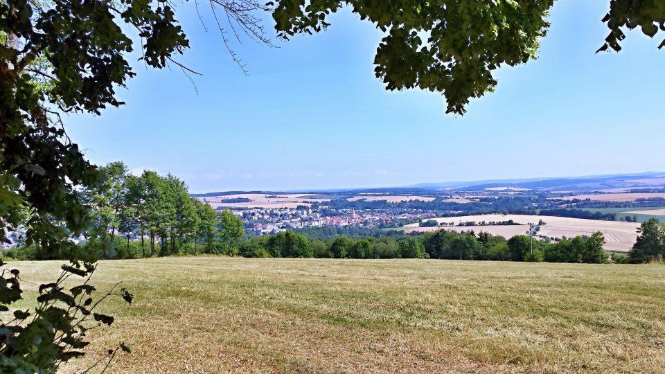 Výhled z Veselé hory - Domažlice