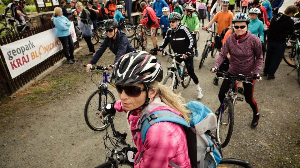 Na trase Po stopách blanických rytířů se můžete zůčastnit pravidelných závodů o Cyklorytíře