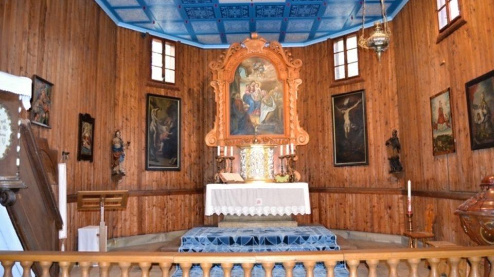 Interiér kostelíku svaté Anny